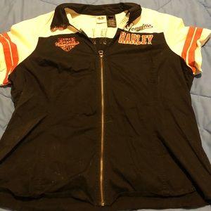 Harley Davidson zip up shirt